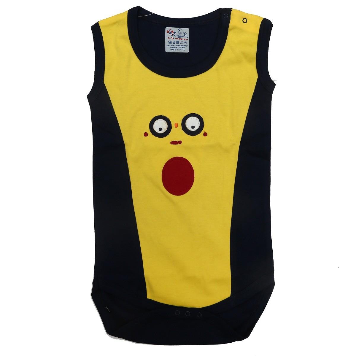 39a6e9dcb102 Kaboos 100% Cotton Designer Bodysuit For Baby Boys