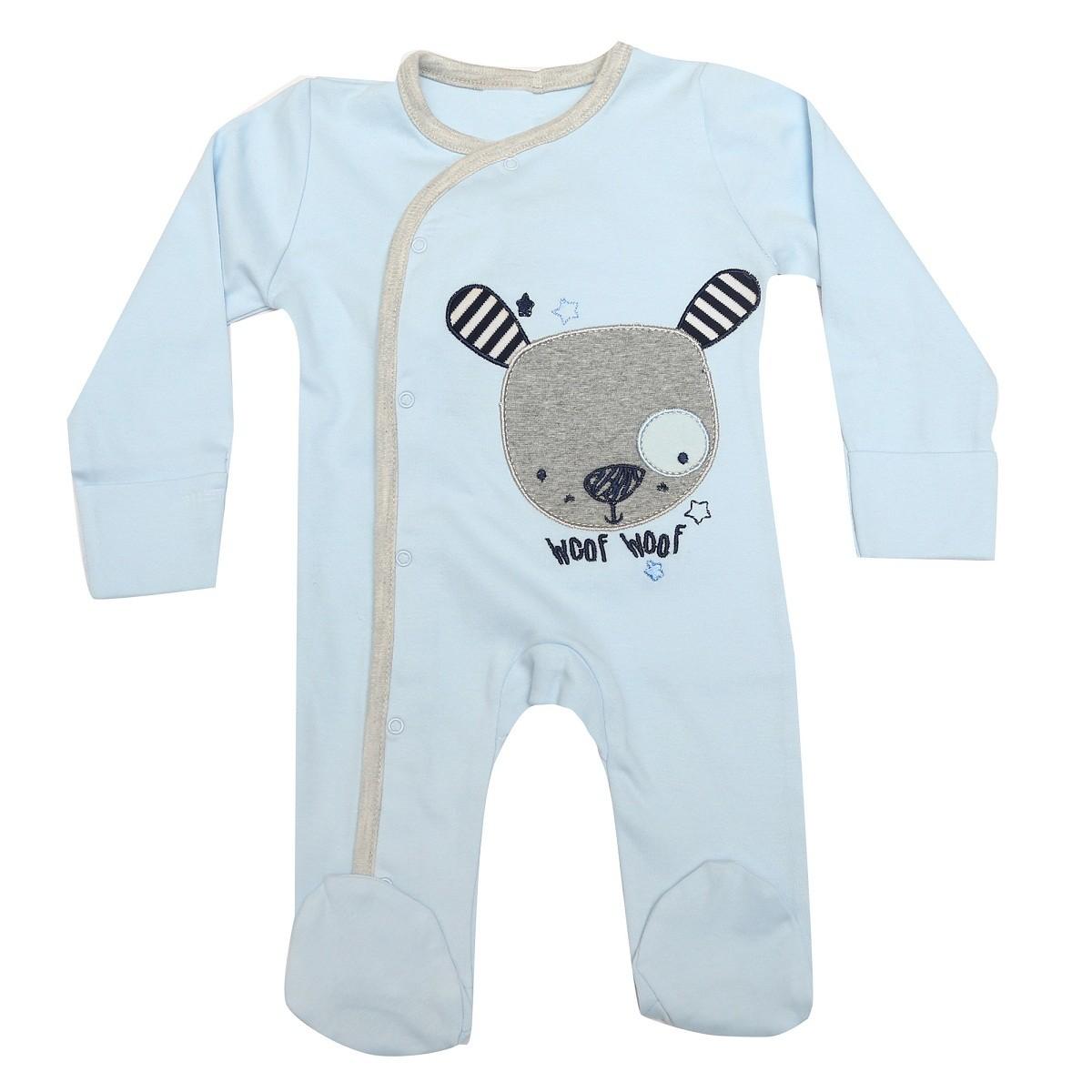 940c1351c871 Kaboos 100% Cotton Sky Colour Bodysuit For Baby Boys